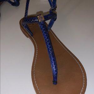 Tory Burch Blue Emmy Sandal